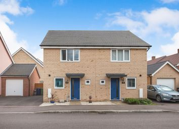 Thumbnail 2 bed semi-detached house for sale in Spitfire Road, Upper Cambourne, Cambridge