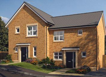 "Thumbnail 3 bed semi-detached house for sale in ""The Hamilton"" at Castlehill Crescent, Ferniegair, Hamilton"