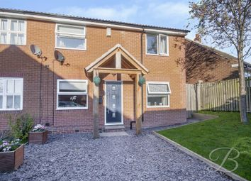 Thumbnail 3 bed semi-detached house for sale in Dunwoody Close, Mansfield