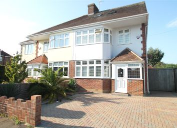 Thumbnail 4 bed semi-detached house for sale in Orchard Avenue, Worthing, West Sussex