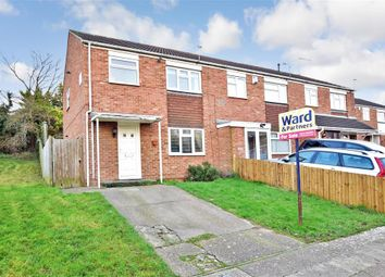 Thumbnail 3 bed end terrace house for sale in Wordsworth Close, Walderslade, Chatham, Kent