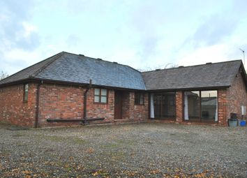 Thumbnail 3 bed detached bungalow to rent in Old Hall Street, Malpas, Cheshire