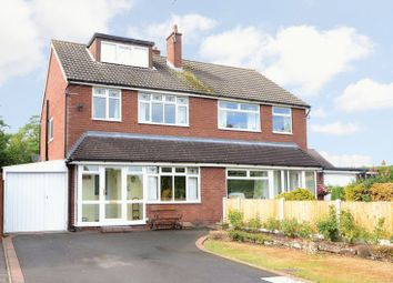 Thumbnail 3 bed semi-detached house for sale in Cross Street, Gnosall, Staffordshire