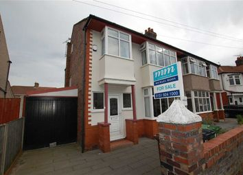 Thumbnail 4 bed semi-detached house for sale in Duddingston Avenue, Crosby, Liverpool