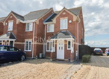 Thumbnail 3 bed semi-detached house for sale in Harvester Way, Crowland, Peterborough