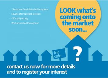 Thumbnail 2 bed terraced bungalow for sale in Wakehams Close, Ninfield Road, Bexhill-On-Sea