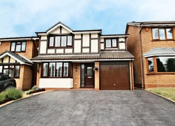 Thumbnail 4 bed detached house for sale in Hatherton Close, Newcastle-Under-Lyme