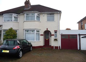 Thumbnail 3 bed semi-detached house to rent in Stanway Road, Shirley, Solihull