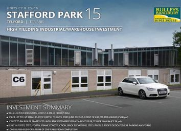 Thumbnail Light industrial for sale in Queensway Link Industrial Estate, Stafford Park, Telford