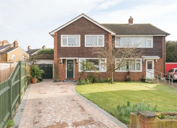 Thumbnail 4 bed semi-detached house for sale in Felcott Close, Hersham, Walton-On-Thames
