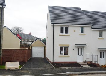 Thumbnail 3 bed semi-detached house to rent in Trem Y Rhedyn, Carreg Erw, Parc Derwen, Coity, Bridgend