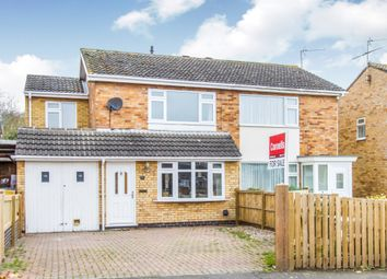 Thumbnail 3 bed semi-detached house for sale in Whitby Close, Broughton Astley, Leicester