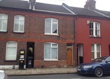 Thumbnail 3 bedroom terraced house to rent in Frederick Street, Luton, Beds
