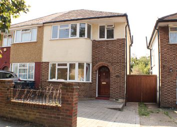 Thumbnail 3 bed semi-detached house to rent in Somervell Road, Northolt