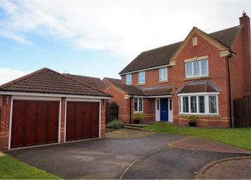 Thumbnail 4 bed detached house for sale in Corfe Close, Grantham