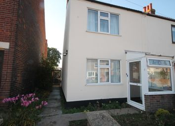 Thumbnail 2 bed semi-detached house to rent in The Street, Blundeston, Lowestoft