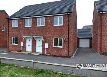Thumbnail 3 bedroom semi-detached house for sale in Luna Way, Peterborough, Cambridgeshire.