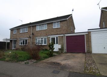 Thumbnail 4 bed semi-detached house for sale in Thurne Close, Newport Pagnell, Buckinghamshire