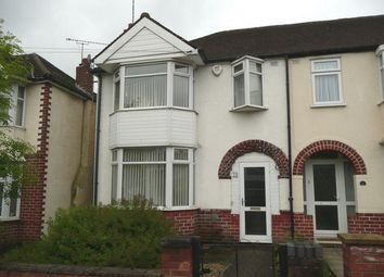 Thumbnail 3 bed end terrace house to rent in Woodstock Road, Cheylesmore, Coventry, West Midlands