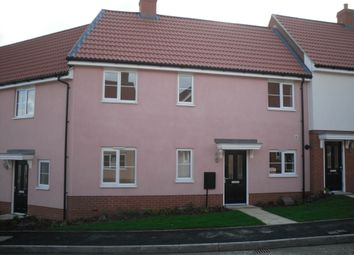 Thumbnail 2 bed terraced house to rent in Buzzard Rise, Stowmarket, Suffolk