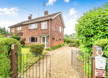 Thumbnail 3 bed semi-detached house for sale in Swan Close, Swannington, Norwich