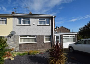 Thumbnail 4 bed semi-detached house for sale in St. Brides Way, Barry