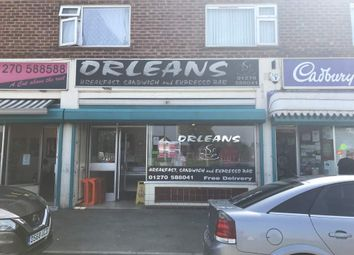 Thumbnail Restaurant/cafe for sale in Coronation Crescent, Crewe