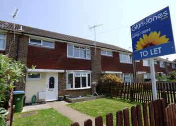 Thumbnail 3 bed terraced house to rent in Guildford Road, Rustington, Littlehampton