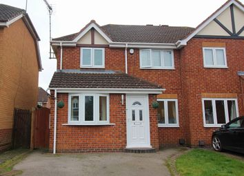 Thumbnail 3 bed semi-detached house for sale in Hart Close, Whetstone, Leicester