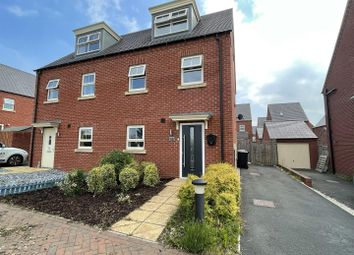 Thumbnail 3 bed town house for sale in Hickory Grove, Midway, Swadlincote