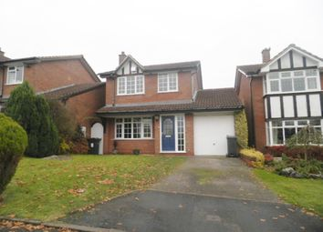 Thumbnail 3 bed detached house to rent in Vaughan Close, Four Oaks, Sutton Coldfield