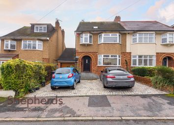 Thumbnail 4 bed semi-detached house for sale in St. Davids Drive, Broxbourne, Herts