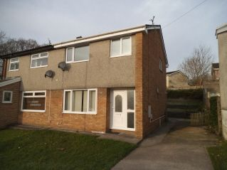 Thumbnail 3 bed semi-detached house to rent in Heol Y Dail, Bridgend