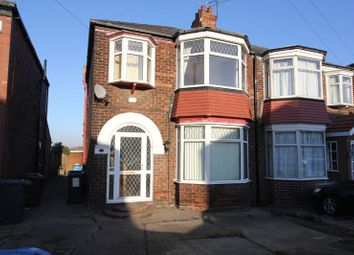 Thumbnail 3 bed semi-detached house to rent in Guildford Avenue, Hull