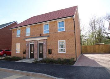 Thumbnail 3 bed semi-detached house to rent in Vancouver Way, Hempsted, Peterborough
