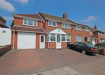 Thumbnail 4 bed semi-detached house for sale in Avebury Avenue, Leicester