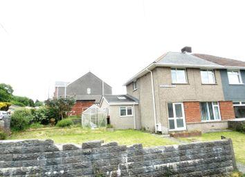 Thumbnail 3 bed semi-detached house for sale in Onslow Terrace, Brynmenyn, Bridgend