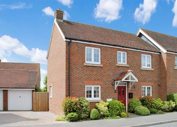 Thumbnail 4 bed semi-detached house for sale in The Green, Chieveley, Newbury