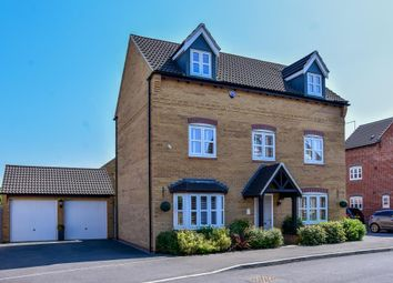 Thumbnail 5 bed detached house for sale in Littlecote Grove, Peterborough