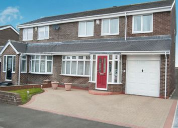 Thumbnail 4 bed semi-detached house for sale in Sunholme Drive, Wallsend