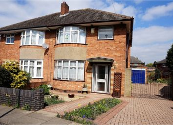 Thumbnail 3 bedroom semi-detached house for sale in Aintree Crescent, Leicester