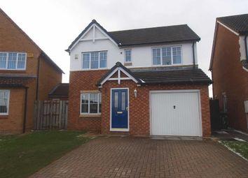 Thumbnail 4 bed detached house for sale in Goldthorpe Close, Cramlington