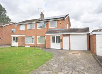 Thumbnail 3 bed semi-detached house for sale in Howard Close, Loughborough