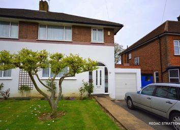 Thumbnail 3 bed semi-detached house to rent in Offham Slope, Woodside Park, London