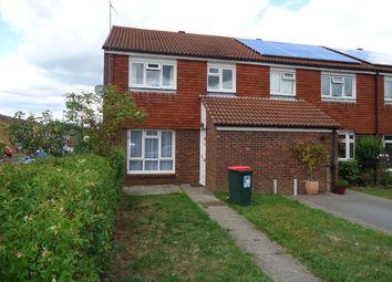 Thumbnail 3 bedroom end terrace house to rent in Hawksmoor Road, Crawley