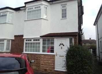 Thumbnail 3 bed semi-detached house to rent in Cardinal Avenue, Borehamwood