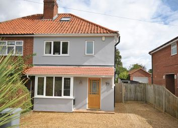 Thumbnail 3 bedroom semi-detached house for sale in Burma Road, Old Catton, Norwich