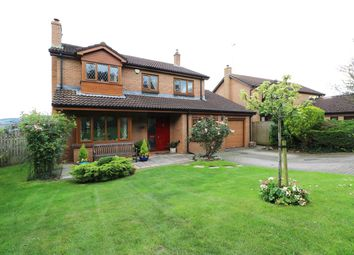 Thumbnail 4 bed detached house for sale in Barnfield Close, Llangybi, Usk