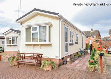 Thumbnail 2 bedroom mobile/park home for sale in Oak Street, Fakenham