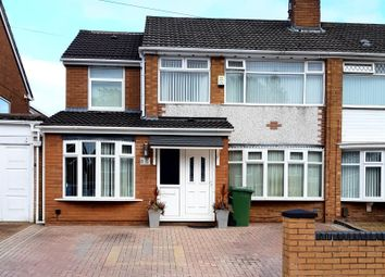 Thumbnail 3 bed semi-detached house for sale in Christleton Close, Prenton